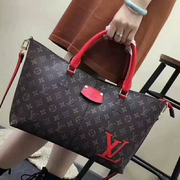 LV Letters Women Shopping Leather Tote Crossbody Satchel Shoulder Bag H-AGG-CZDL