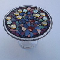 Mosaic Raised Display Tray/ Jewelry stand/ Catch all tray