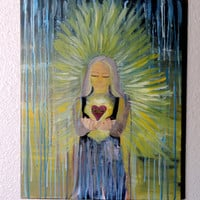 20 X 14 -Women Empowerment-Hope-Condolences-Grief- Loss-Survivor -Original Art-Canvas Acrylic
