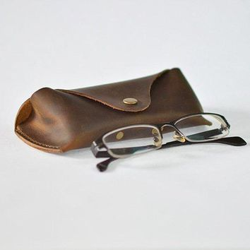 BLUESEBE UNISEX HANDMADE GENUINE LEATHER SUNGLASSES CASE F01