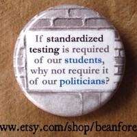 standardized testing  pinback button badge by beanforest on Etsy