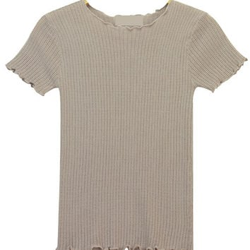 Knit T-shirt with Stretch