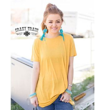 Lets Get Knotty Top in Mustard by Crazy Train