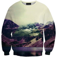 Mountain Range 3D Print Long Sleeve Sweatshirt
