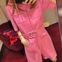 GUCCI Women Fashion Zipper Pocket Jumpsuits
