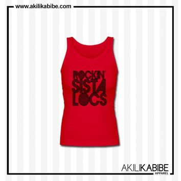 Rockin' Sista Locs Women's Premium Tank Top - Red