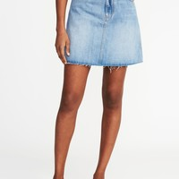Denim A-Line Mini Skirt for Women | Old Navy