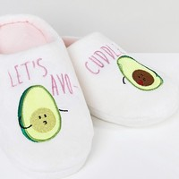 ASOS DESIGN Never Leave Avo-Cuddle Slippers at asos.com