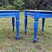 Cobalt Blue Side Tables/ End Tables/ Nightstands by AquaXpressions