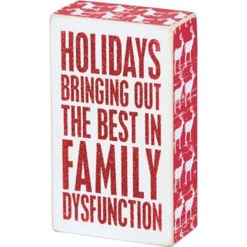 Box Sign - Family Dysfunction