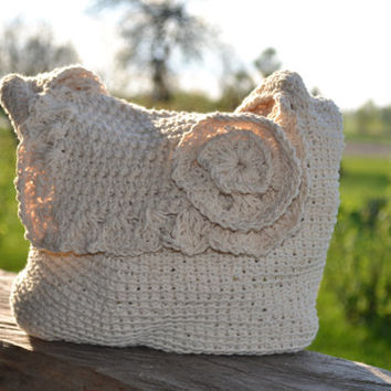 Crochet Flower Bag, summer shoulder bag