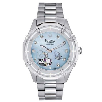 Bulova 96R151 Women's Automatic Heart Skeleton Display Watch