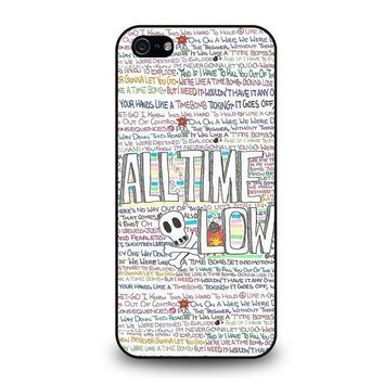 all time low writting iphone 5 5s se case cover  number 1