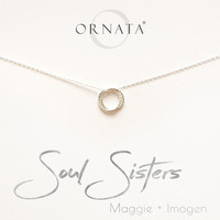 """Soul Sisters"" Personalized Sterling Silver Necklace 