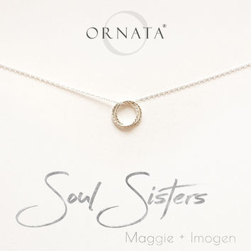 """Soul Sisters"" Sterling Silver Necklace 