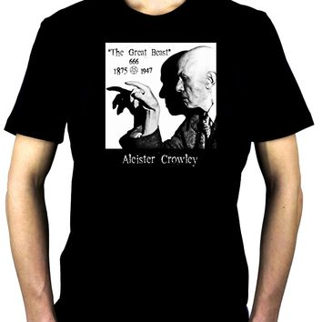 Aleister Crowley Men's T-Shirt The Great Beast 666 Occult Black Magician