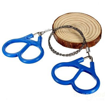 Paracord Heaven Steel Wire Saw Scroll Outdoor Survival Portable Tool