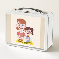 Teacher and Students Metal Lunch Box