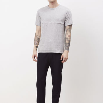 Totokaelo - Comme des Garcons SHIRT Grey Cross Seam Pocket T-shirt - $103.68