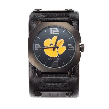 Rockwell Clemson Tigers Assassin Leather Watch - Men (Black)