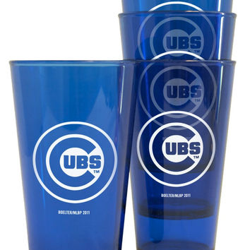Chicago Cubs Plastic Pint Glass Set