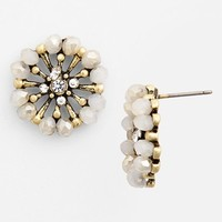 Junior Women's BP. Crystal Flower Stud Earrings