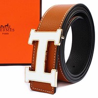 Boys & Men Hermes Men Fashion Smooth Buckle Belt Leather Belt