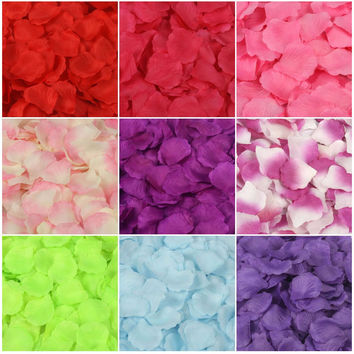 5000 Artificial Silk Rose Petals Wedding Party Decorations Aisle Runners Flower Girl Tossing Table wedding petal