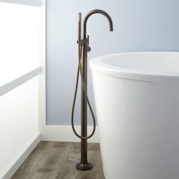 FREESTANDING TUB FAUCET AND HAND SHOWER