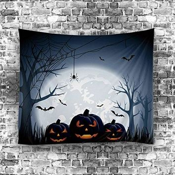 """Olibay Tapestry Halloween Wall Hanging Vintage Wall Art Polyester Fabric Home Decor 60X51"""""""