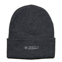 KULT Clothing — DARK HEATHER BEANIE