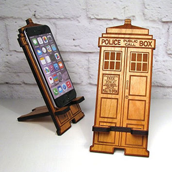 Police Box Mobile Phone Stand Dock For Any Smartphone Fits iPhone and Galaxy Best