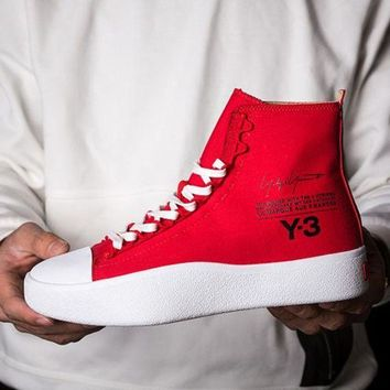 ADIDAS Y-3 Popular Unisex Casual High Help Personality Sneakers Sport Shoes Red I