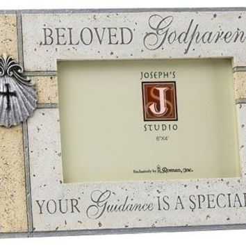 4 Godparent Picture Frames - Gift Box Included