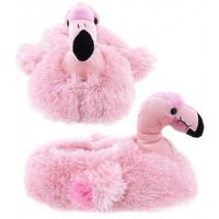 Adult & Children Kid Size Flamino Animal Plush Fuzzy Slippers