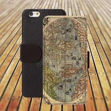 iphone 5 5s case dream map of the world iphone 4/4s iPhone 6 6 Plus iphone 5C Wallet Case,iPhone 5 Case,Cover,Cases colorful pattern L309