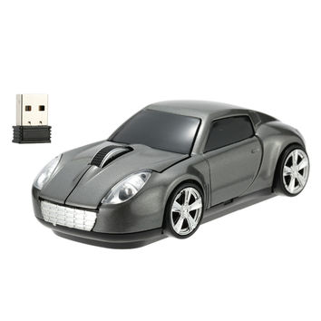 2.4GHz Wireless Mouse Car Shaped Optical USB Mouse 3D Buttons 1000 DPI/CPI