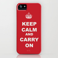 KEEP CALM AND CARRY ON iPhone Case by Julie Qiu | Society6