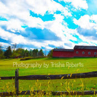 Photography Art Landscape Print Country Style Barn or Farm Home Decor