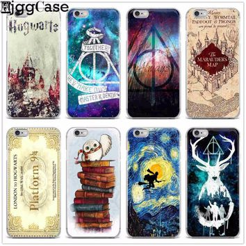 Harry Potter Hogwarts Pattern Design TPU Soft Silicone Phone Cases Cover for Iphone X 7 6 6S 8 Plus 5S SE X Coque Fundas Capa