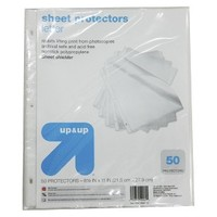 up & up Clear 50Ct Clear Sheet Protecter