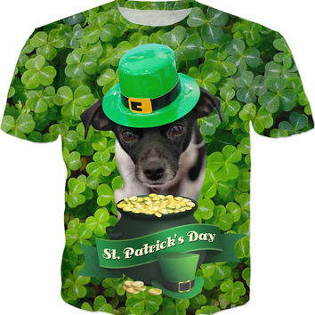 St. Patricks Day Dog T-Shirt