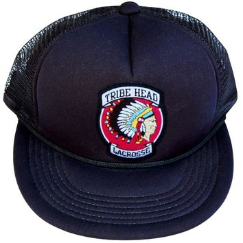 Tribe Head Lacrosse Patch Trucker Hat