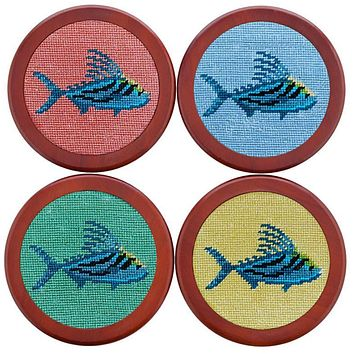 Roosterfish Coasters in Bermuda Sand by Smathers & Branson