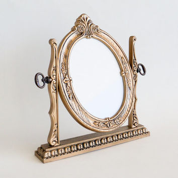 Ornate Oval Faux Bois Swivel Picture Frame