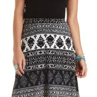 Printed Full Midi Skirt by Charlotte Russe
