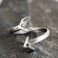 Arrow Ring, Sterling Silver Adjustable Ring, Sterling Silver Arrow Ring