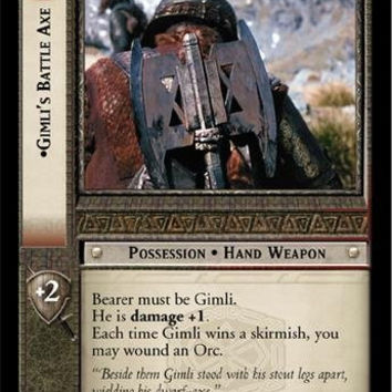 Lord of the Rings TCG - Gimli's Battle Axe - Fellowship of the Ring