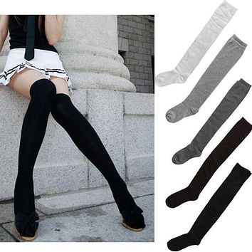 Sexy Women Girl Thigh High OVER the KNEE Socks Cotton Stockings 5 Colours U