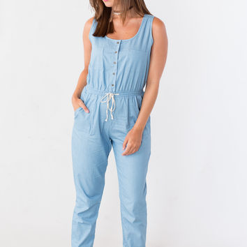 All That Chambray Denim Jumpsuit